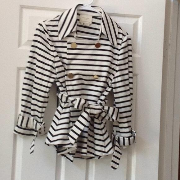 Kate spade nautical striped jacket bow back